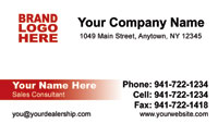 Cadillac Dealer Business Card