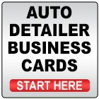 Auto Detailer Business Cards