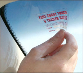 Static Cling labels are easy to remove ...